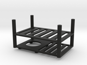 Quanum Trifecta two layer electronics platform in Black Natural Versatile Plastic