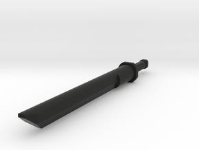 Katana Sword Gauge 6g in Black Natural Versatile Plastic