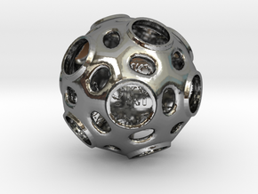 ZWOOKY Style 3412  -  Sphere in Fine Detail Polished Silver