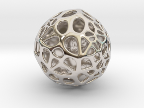 ZWOOKY Style 3408  -  Sphere in Rhodium Plated Brass