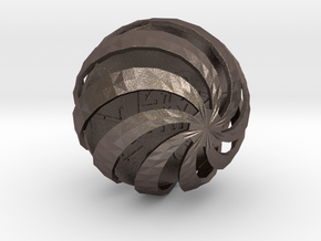 ZWOOKY Style 3411  -  Sphere in Polished Bronzed Silver Steel