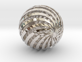 ZWOOKY Style 3407  -  Sphere in Rhodium Plated Brass