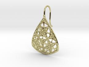 PA Earrings  Ef001Se65U25H25a07 in 18k Gold Plated Brass