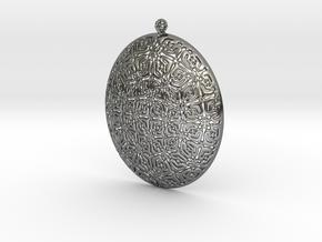 PA Medalion F2c45x38x7Se84b-wax in Fine Detail Polished Silver