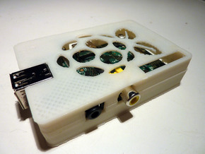 Raspberry Pi Case Top in White Natural Versatile Plastic
