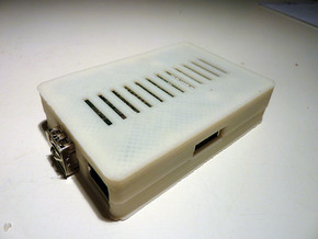 Raspberry Pi Case Bottom in White Natural Versatile Plastic