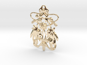 Nature 001 2 in 14k Gold Plated Brass