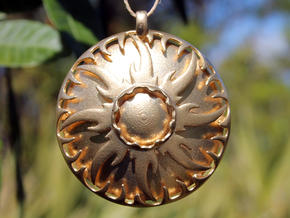 Pendant Sun Shadows in Raw Brass