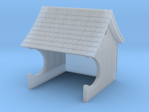 H&F Waiting Station - HO scale in Smooth Fine Detail Plastic