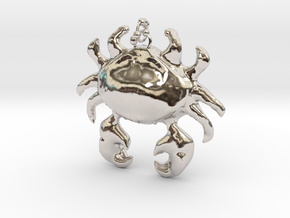 Crab Necklace in Rhodium Plated Brass