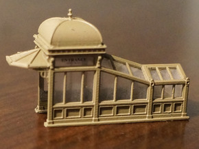 N Scale (1:160) Subway Kiosks (Set of 2) in Smooth Fine Detail Plastic