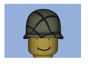 US HELMET WWII Normandy for lego in Full Color Sandstone