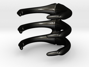 Para_Ribs3_XXL in Matte Black Steel