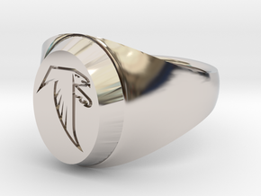 Falcon Class Ring in Rhodium Plated Brass