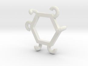 Hexasnag in White Natural Versatile Plastic