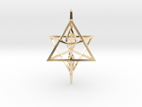 Merkaba Spinner DNA - 6cm in 14K Yellow Gold