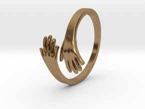 HandRing in Raw Brass