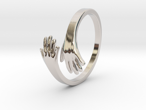 Hand Ring in Rhodium Plated Brass