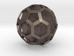 ZWOOKY Style 3422  -  Sphere in Polished Bronzed Silver Steel