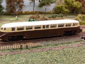 GWR Railcar #1 - Z - 1:220 in Smooth Fine Detail Plastic
