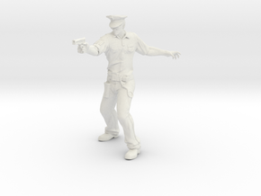 AppFX Policeman in White Natural Versatile Plastic