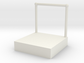 1:48 Conductor's Stand in White Natural Versatile Plastic
