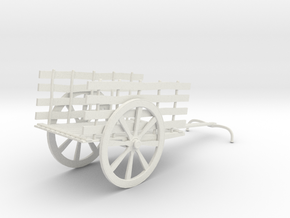 Indian Bullock Cart in White Natural Versatile Plastic: 1:76 - OO