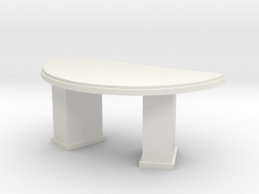 1:48 Deco Circular Desk in White Strong & Flexible