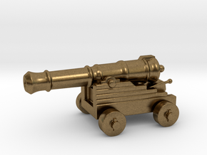 Cannon Paperweight in Natural Bronze