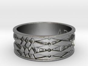 ABLYSSYLBA Ring Size 10.5 in Natural Silver