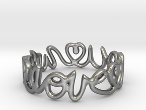 """""""We Love you"""" Ring in Natural Silver"""