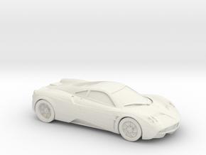1/87 Pagani Huayra S in White Natural Versatile Plastic