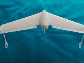 Mach 3 Micro Flying Wing in White Natural Versatile Plastic