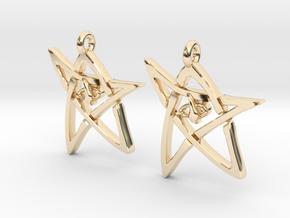 Derleth Elder Sign Earring (Pair) in 14k Gold Plated Brass