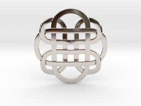 Designer Kolam Pendant in Rhodium Plated Brass