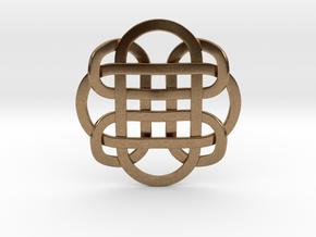 Designer Kolam Pendant in Natural Brass
