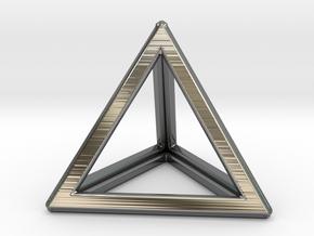 TETRAHEDRON (Platonic) in Premium Silver
