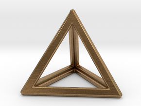 TETRAHEDRON (Platonic) in Natural Brass