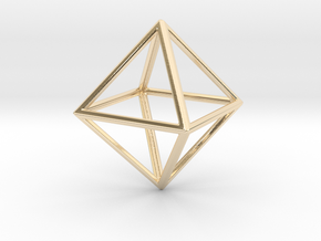 OCTAHEDRON (Platonic) in 14k Gold Plated Brass