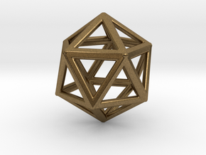 ICOSAHEDRON (Platonic) in Natural Bronze