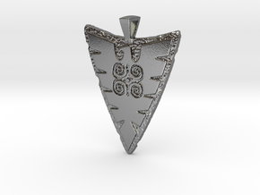 Eagle Pendant (double-sided) in Polished Silver
