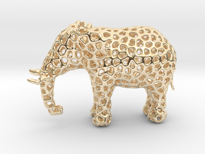 The Osseous Elephant in 14k Gold Plated Brass