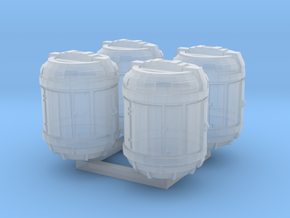 1/87 Scale Bio Medical Containers x4 in Frosted Ultra Detail