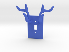 Horn jewelry Hanger  in Blue Processed Versatile Plastic