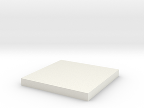 'N Scale' - 10'x10' Foundation Pad in White Natural Versatile Plastic