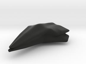 Space Wolf, Pendant  in Black Natural Versatile Plastic