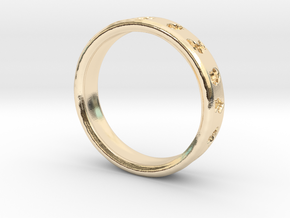PokemonRingSize8 in 14k Gold Plated Brass