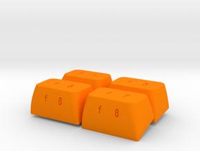 F-Keys Kit for C64 (Breadbox) in Orange Strong & Flexible Polished