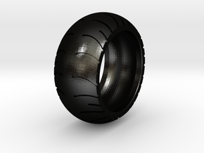 Chopper Rear Tire Ring Size 10 in Matte Black Steel