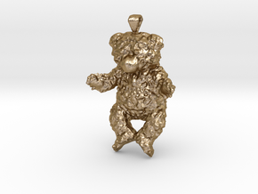 Bbear in Polished Gold Steel